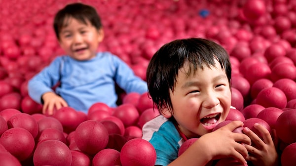 Children in the ball room