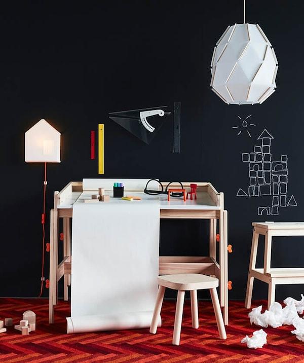 childrens desk - FLISAT children's desk - BEKVAM step - IKEA inspiration