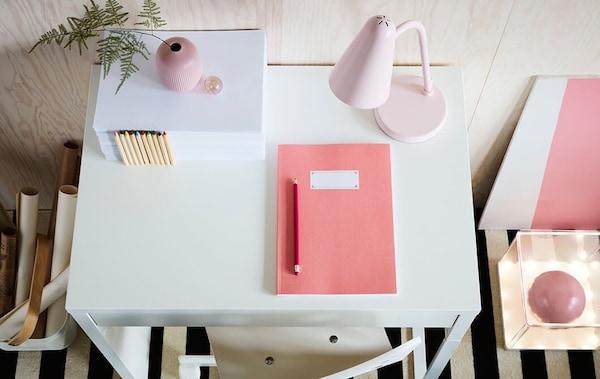 children's desk - MICKE desk - FUBBLA office lamp  - IKEA inspiration