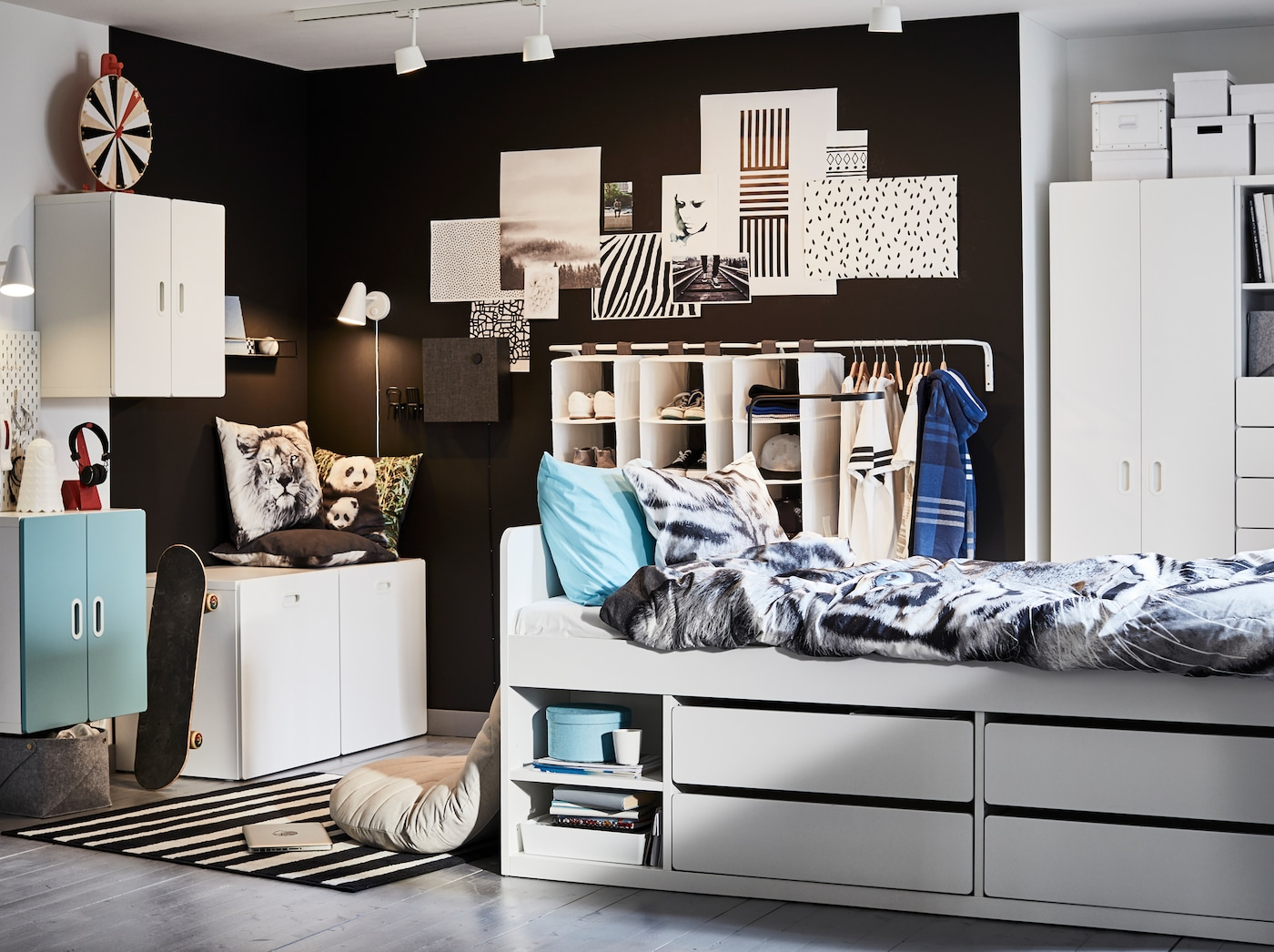 A cool and storage-friendly teenage room - IKEA