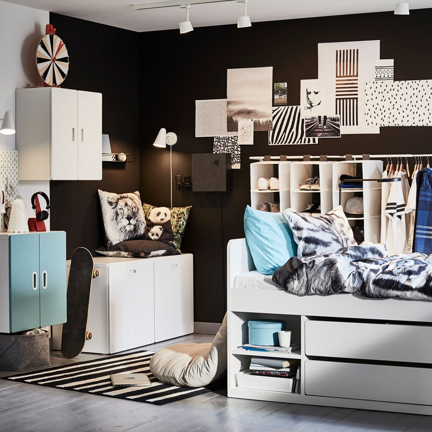 Ikea Small Bedroom Ideas: A Cool And Storage-friendly Teenage Room