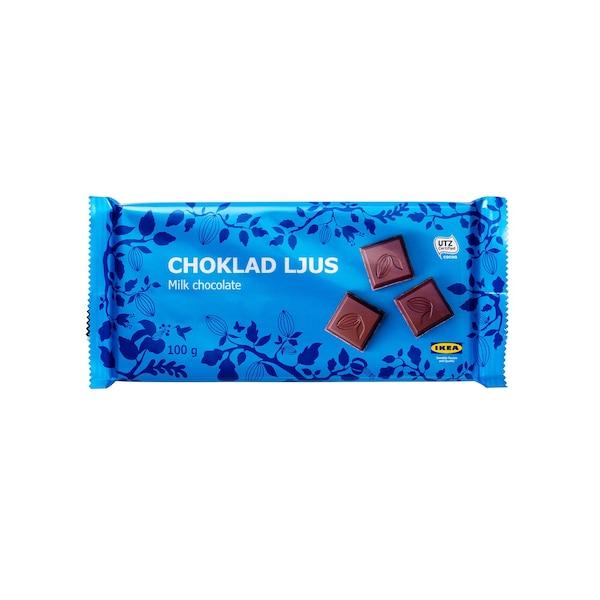 CHOKLAD LJUS Milk chocolate, UTZ
