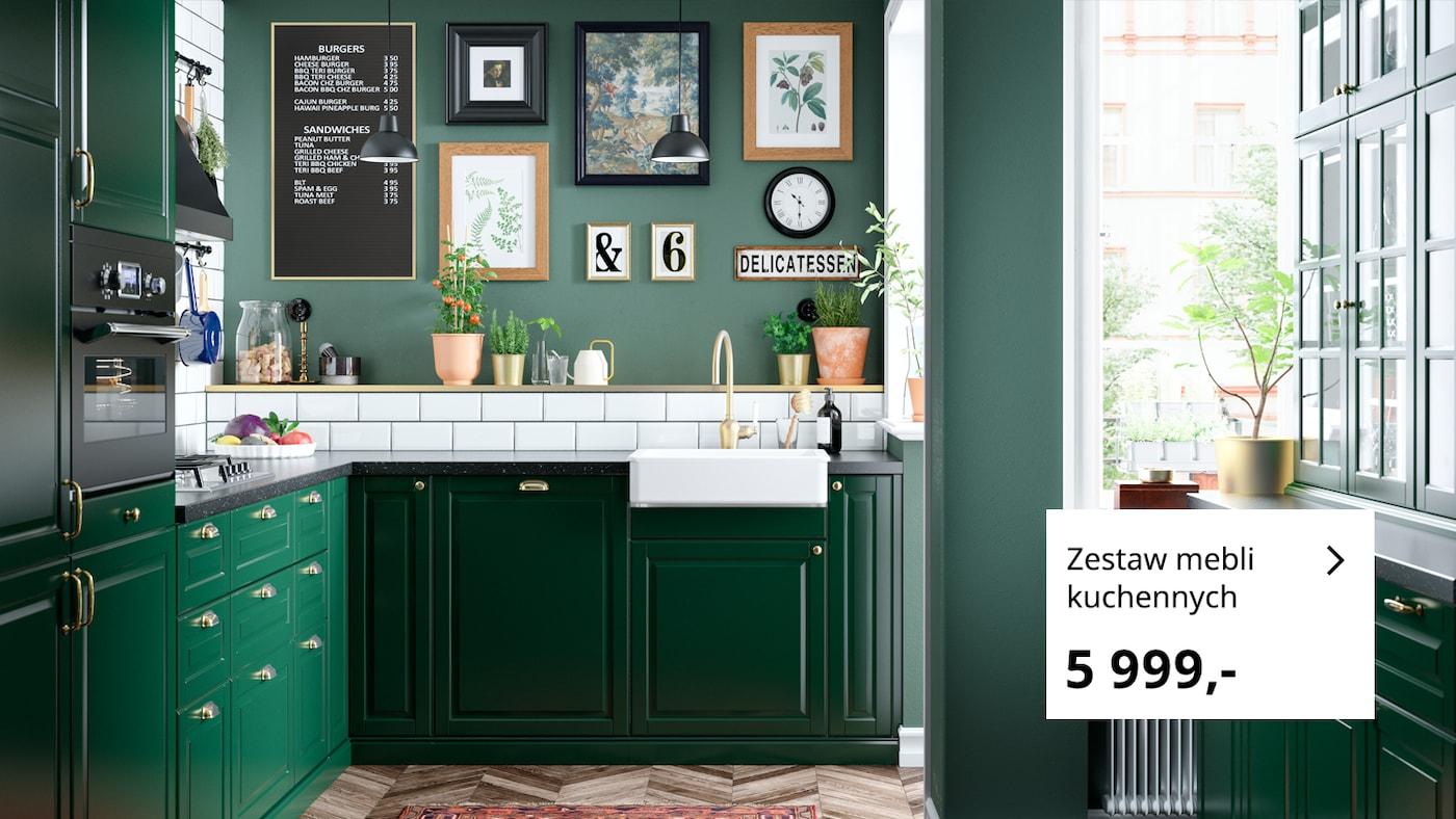 Zielona I Swieza Kuchnia Bodbyn Ikea