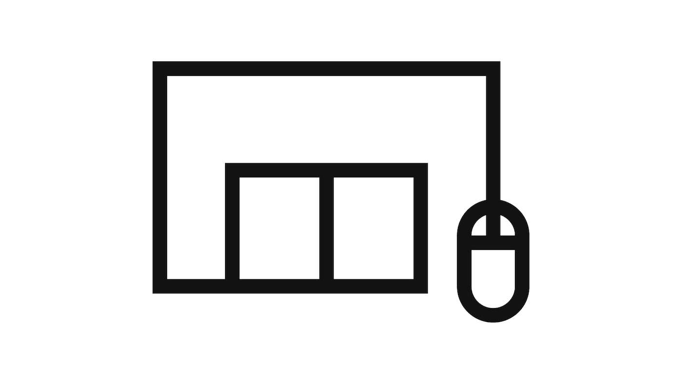 Click and collect pictogram