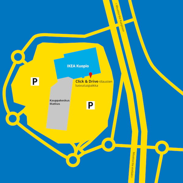 Click & Drive noutopiste IKEA Kuopio
