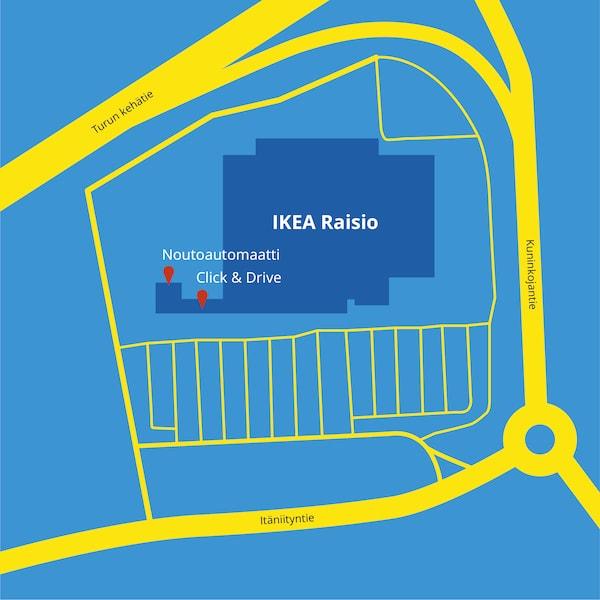 Click & Drive noutopiste IKEA Raisio