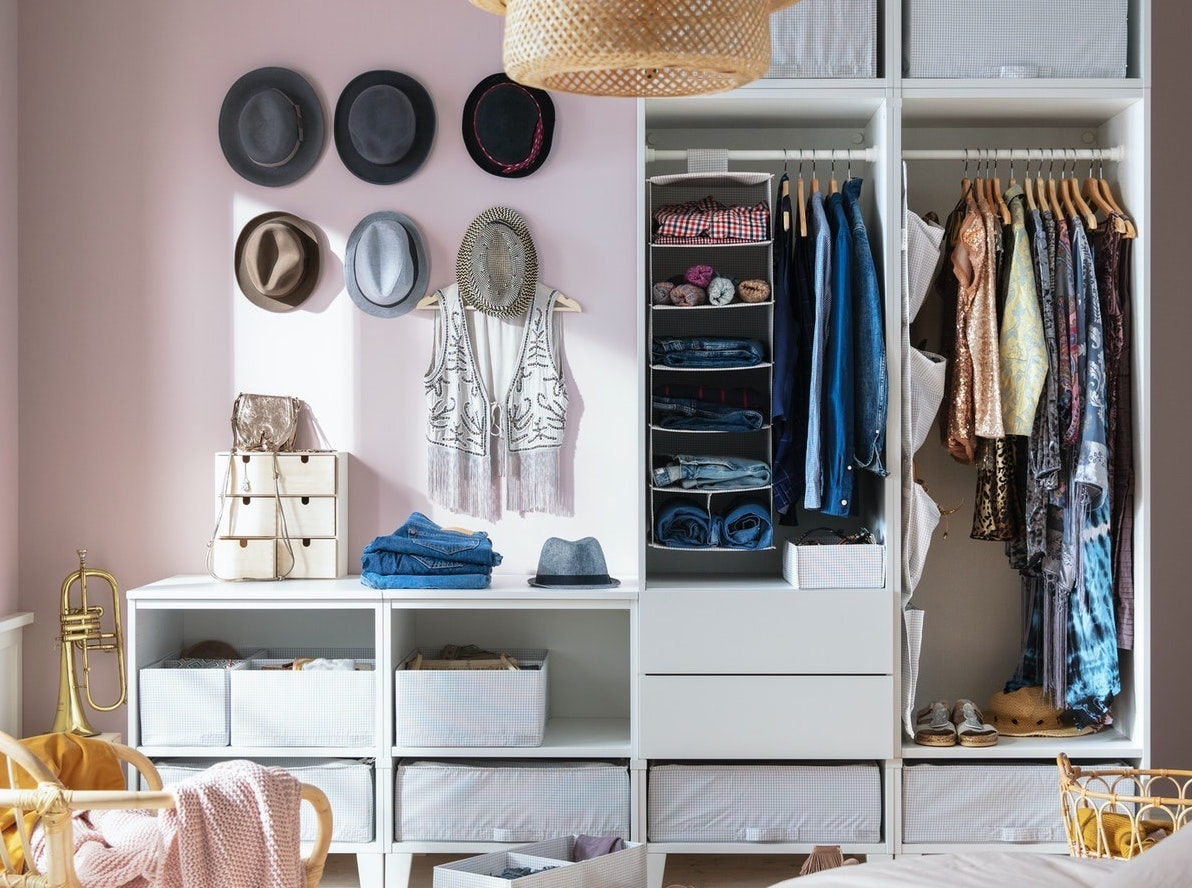 Clothes storage ideas that don't involve buying furniture