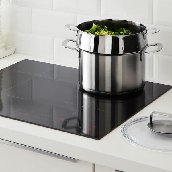 Cocinar al vapor con olla y vaporera