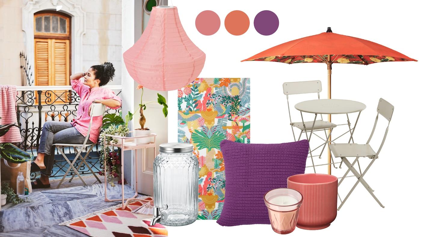 Colagem de vários artigos IKEA