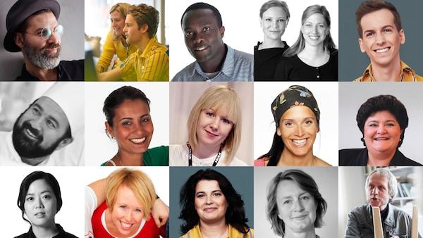 Collage av portrettbilder av ulike medarbeider i IKEA.