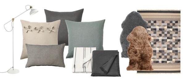 Collage av produkter.