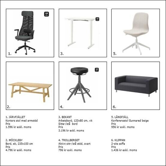 Collage di prodotti. Suggerimenti per mobili, illuminazione, tappeti e tessuti che si inseriscono nei dintorni.
