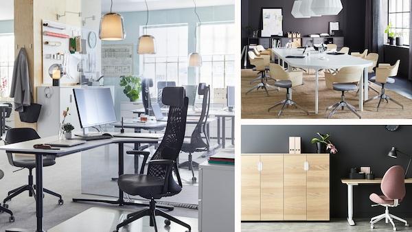 Collage med bilder for IKEA business.