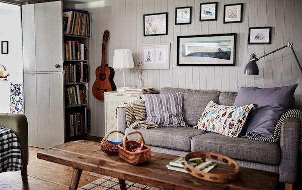 Combinez meubles anciens et meubles neufs.