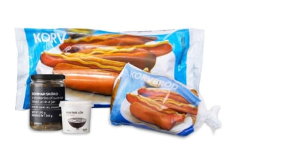 Combo of hot dogs