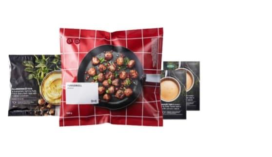 Combo of traditional meatballs