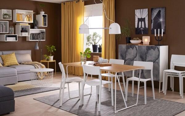 Prueba algo fresco y nuevo: una mesa de comedor de bambú - IKEA
