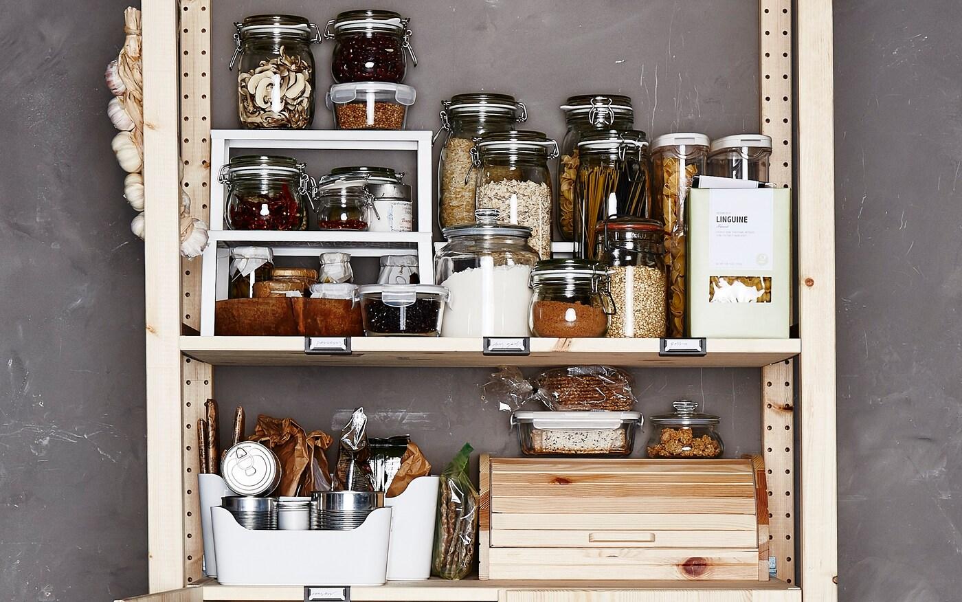 Cómo guardar la comida en la despensa y la nevera
