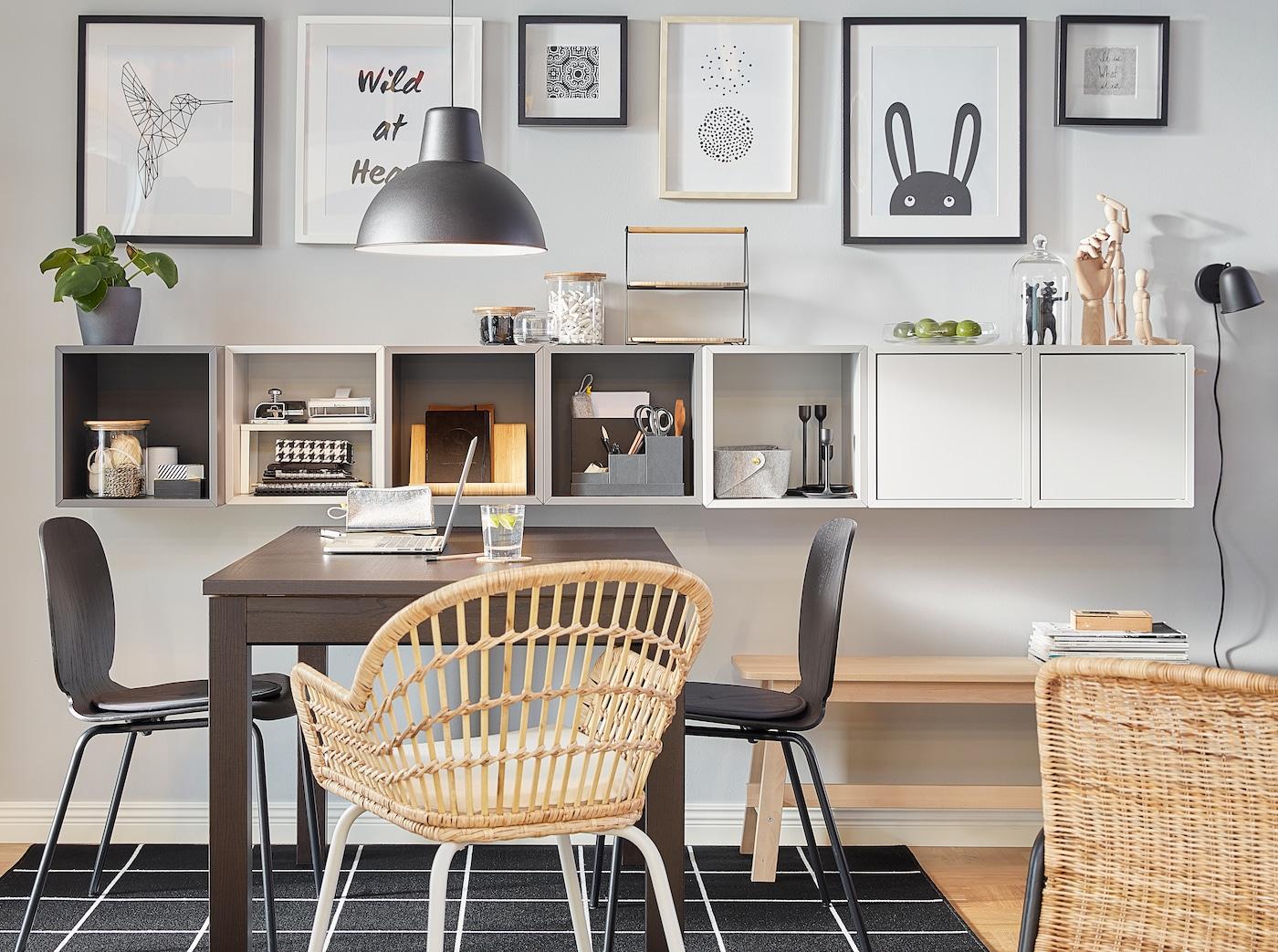 Cómo montar una oficina en casa si hay poco espacio IKEA