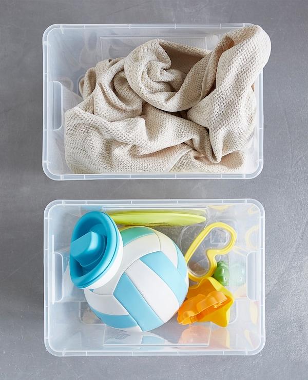 Cómo organizar las cosas de la playa en casa.