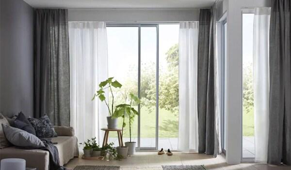 Configuratore sistema personalizzabile per appendere le tende VIDGA - IKEA
