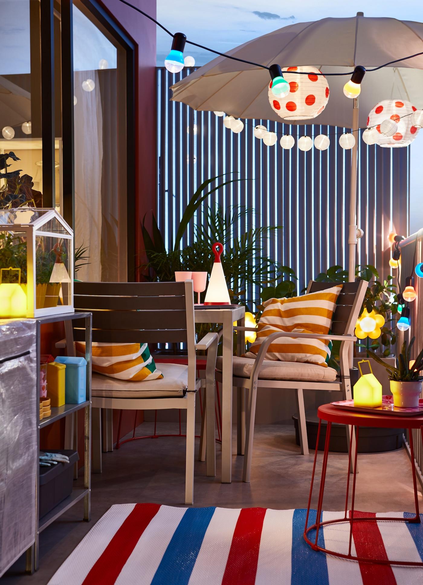 Un Balcón Personalidad Ikea Vibrante Una Para Colorido TJK1l3Fc