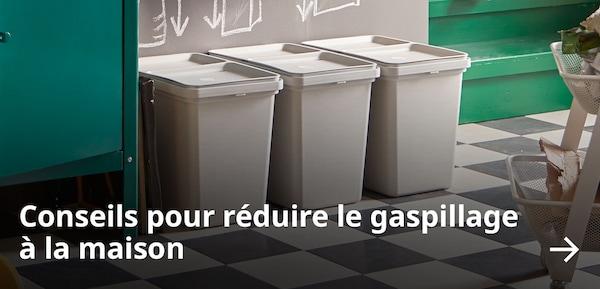 Conseils pour réduire le gaspillage à la maison.