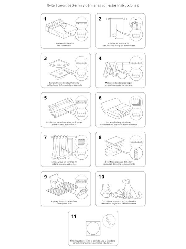 consejos de lavado