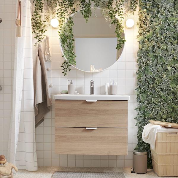 Consejos para crear un baño inspirado en la naturaleza.