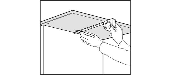 Contrôler les dimensions du plan de travail IKEA
