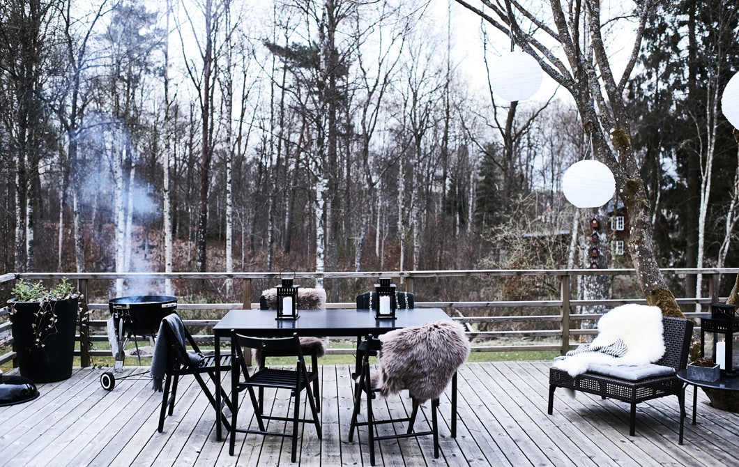 Cook outdoors in all seasons