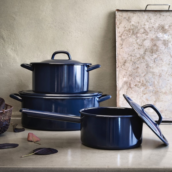 Cookware on countertop