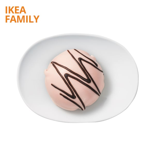 Cream cake with marzipan