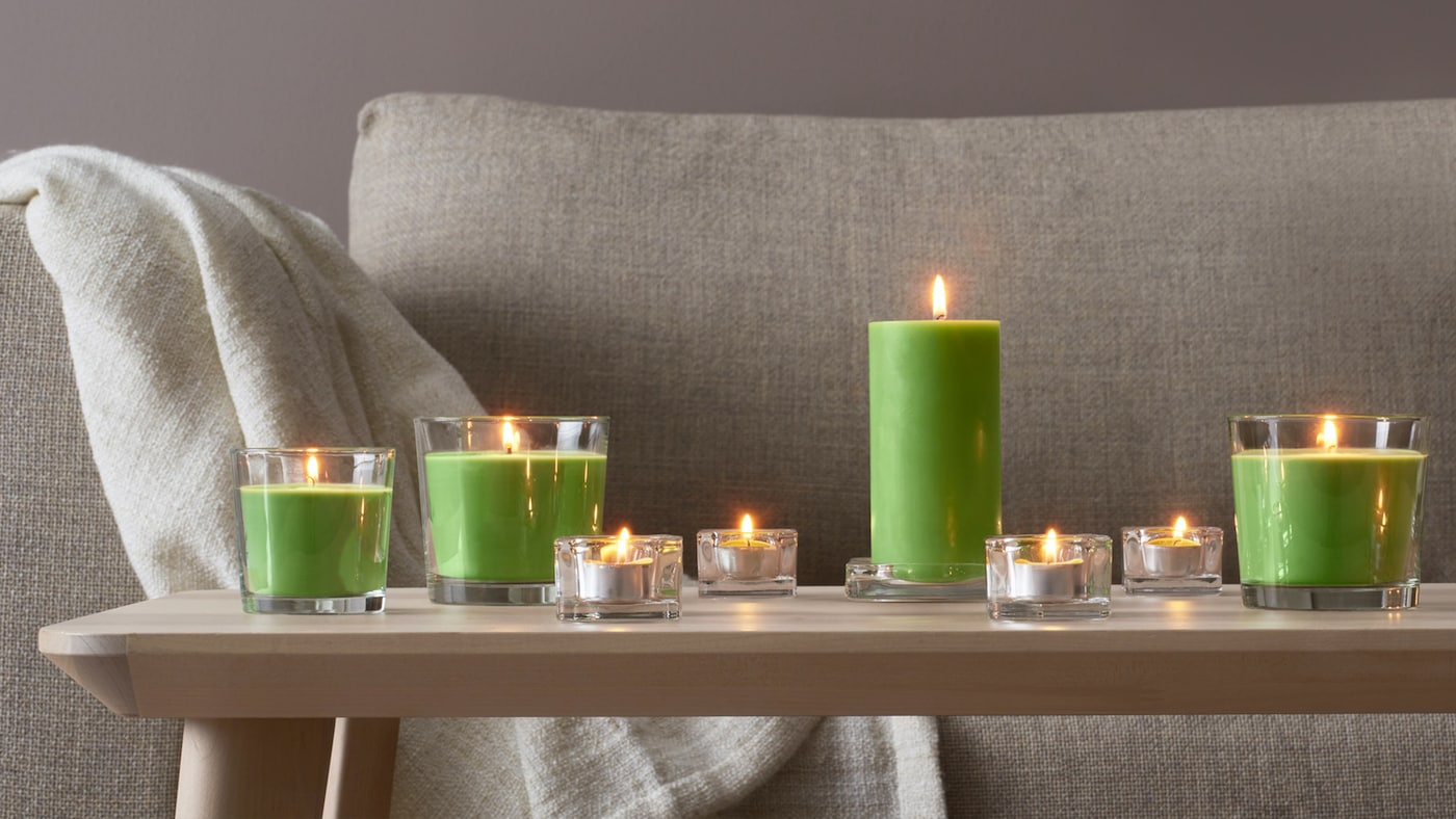 Create a cozy, beautiful atmosphere at home anytime, any day of the week with our wide range of scented and unscented candles and accessories.