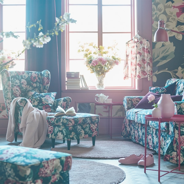 Create an eternal rose garden room.
