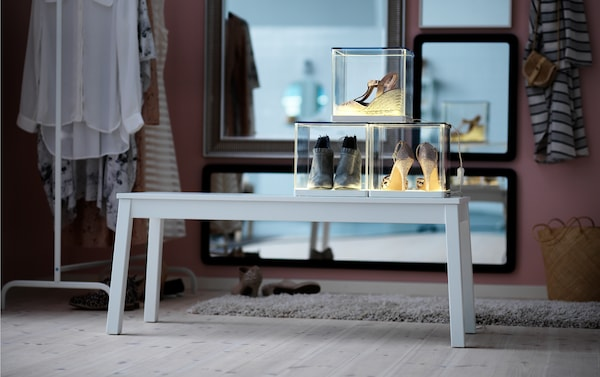 Creative shoe storage solution.