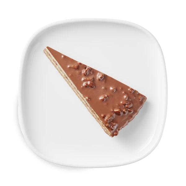 Crunch almond chocolate cake