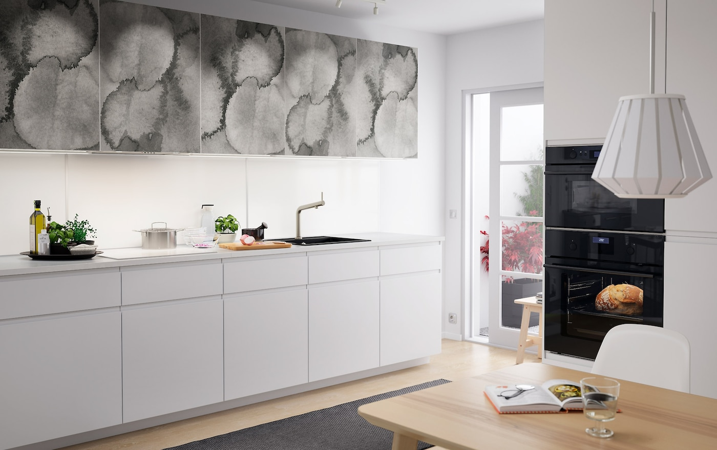 Cucina con motivi grafici d effetto idee cucina ikea