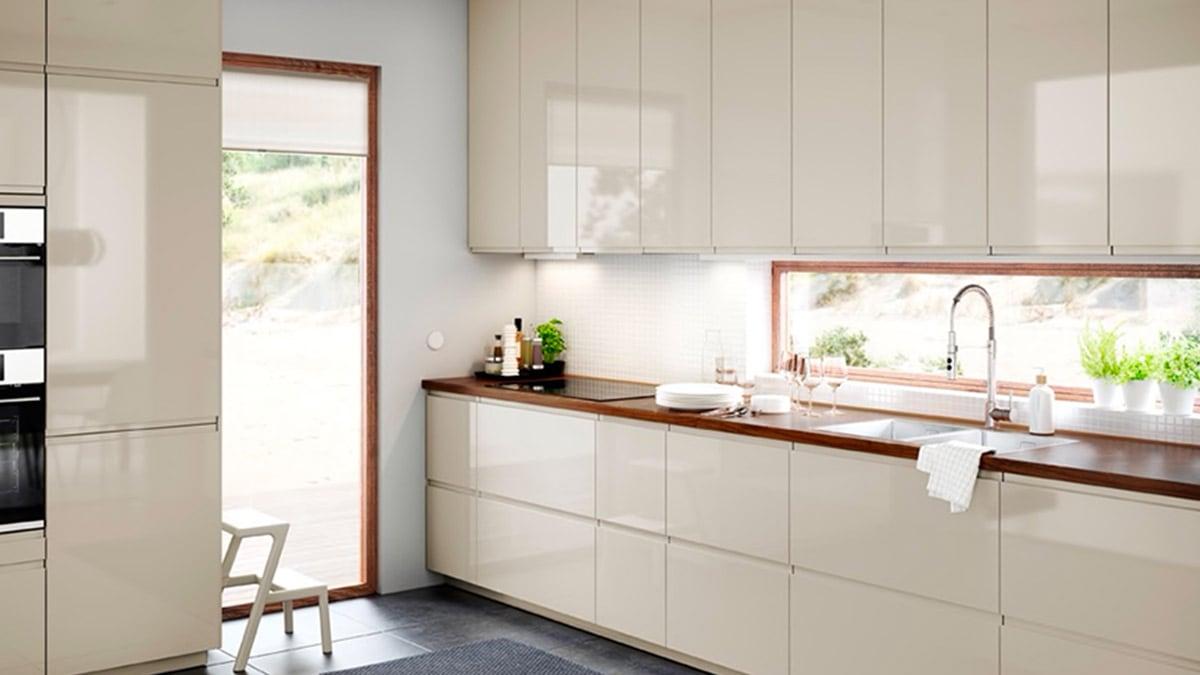 Come Progettare Cucina Ikea cucina beige patinata | idee cucina - ikea