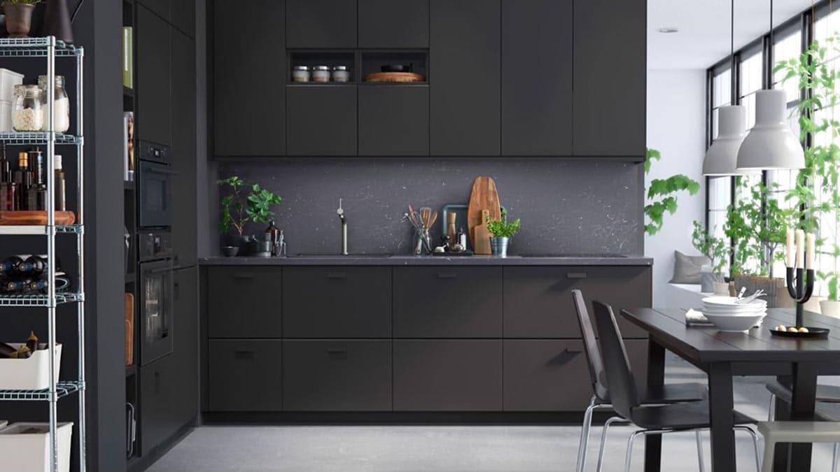 Una cucina dark dall\'anima green - IKEA