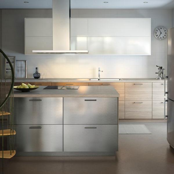 Cucina Ikea Acciaio.Cucina Componibile Grevsta Inox Ikea