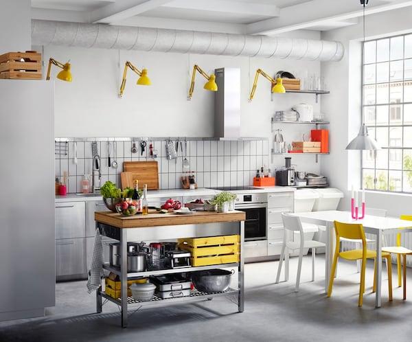 Mobili Cucina Ikea Credenza Acciaio.Cucina Componibile Grevsta Inox Ikea