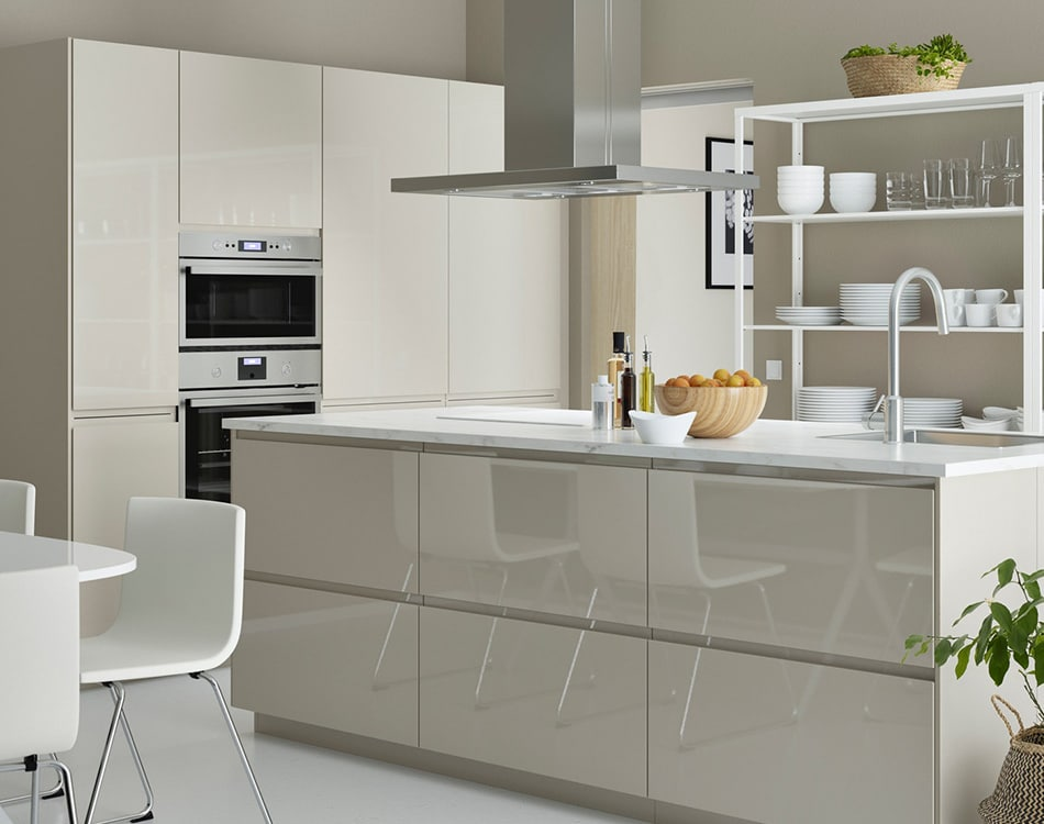 Cucina componibile VOXTORP beige lucido - IKEA
