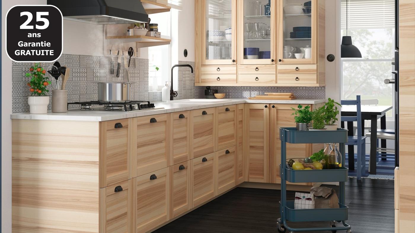 Une cuisine tr s naturelle ikea - Couleur de cuisine ikea ...
