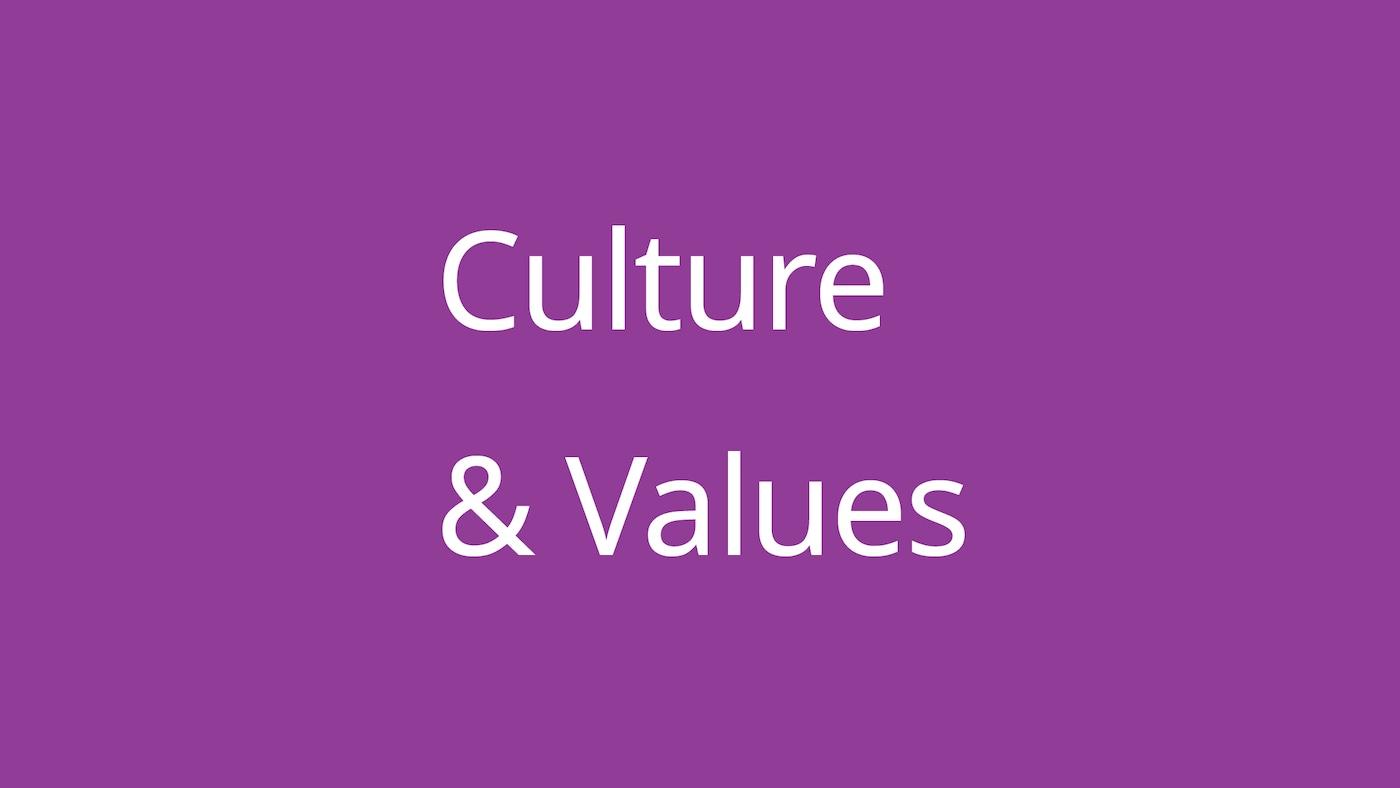 Culture & Values.