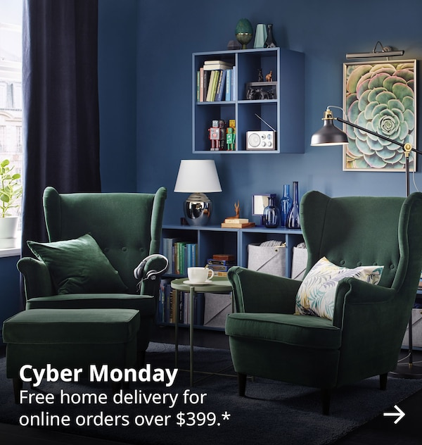 Cyber Monday. Free home delivery for online orders over $399*.