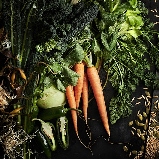 Carrots and other vegetables and seeds