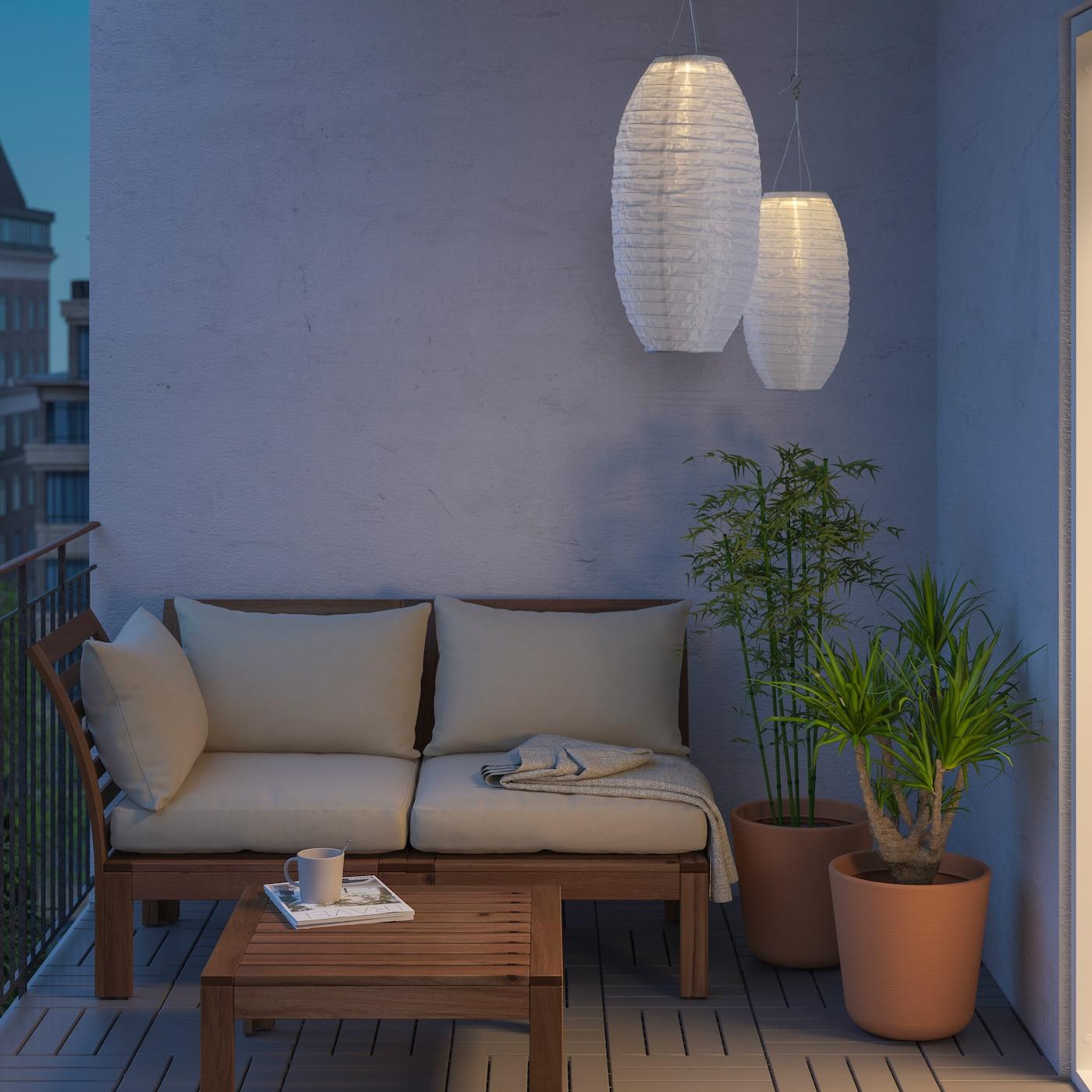 como colocar los farolillos terraza de ikea