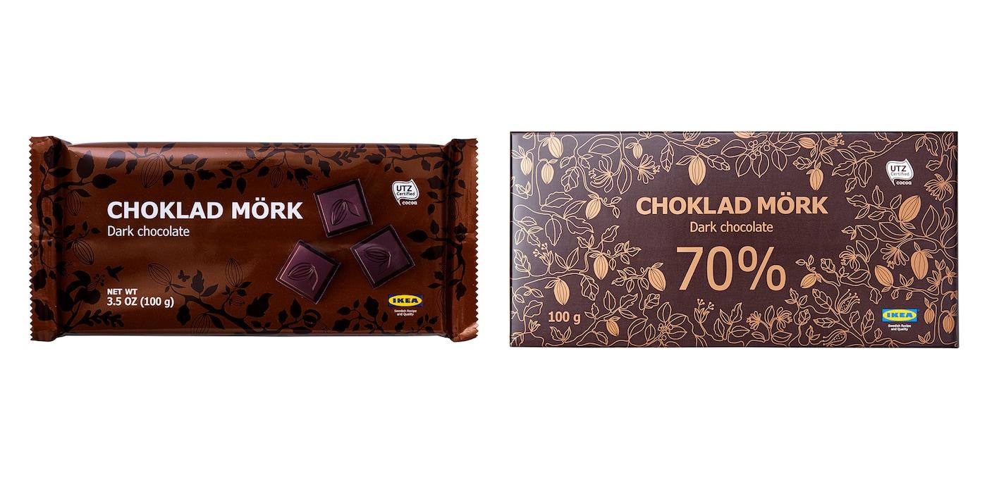 Dark chocolate CHOKLAD MÖRK 60% and CHOKLAD MÖRK 70%