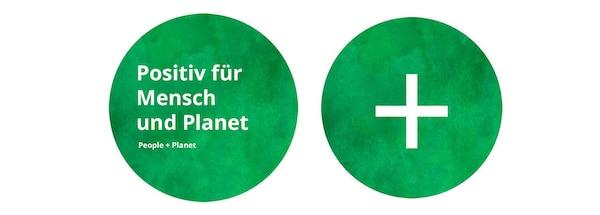 Das grüne Logo von People & Planet Positive.